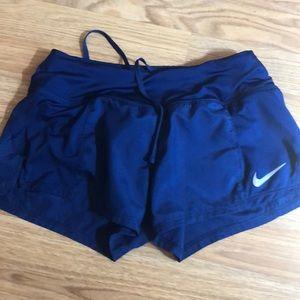 blue nike dri fit shorts